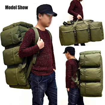 Hot 90L Large Capacity Men's Military Tactical Backpack Waterproof Oxford Hiking Camping Backpacks Wear-resisting Travel Bag 2