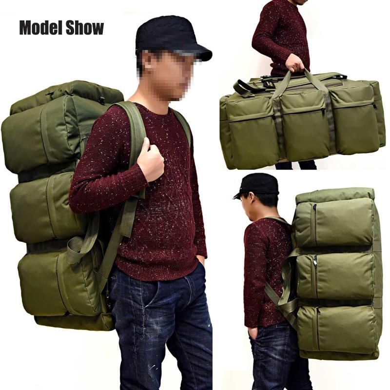 Mochila táctica militar de gran capacidad de 90 L para hombre impermeable Oxford senderismo Camping mochilas resistente al desgaste bolsa de viaje - 2