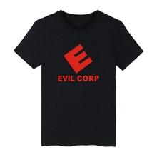 EVIL CORP Style White Cotton T-shirt ood looking and Durable Men/Women EVIL CORP T-shirt Street Wear with High quality