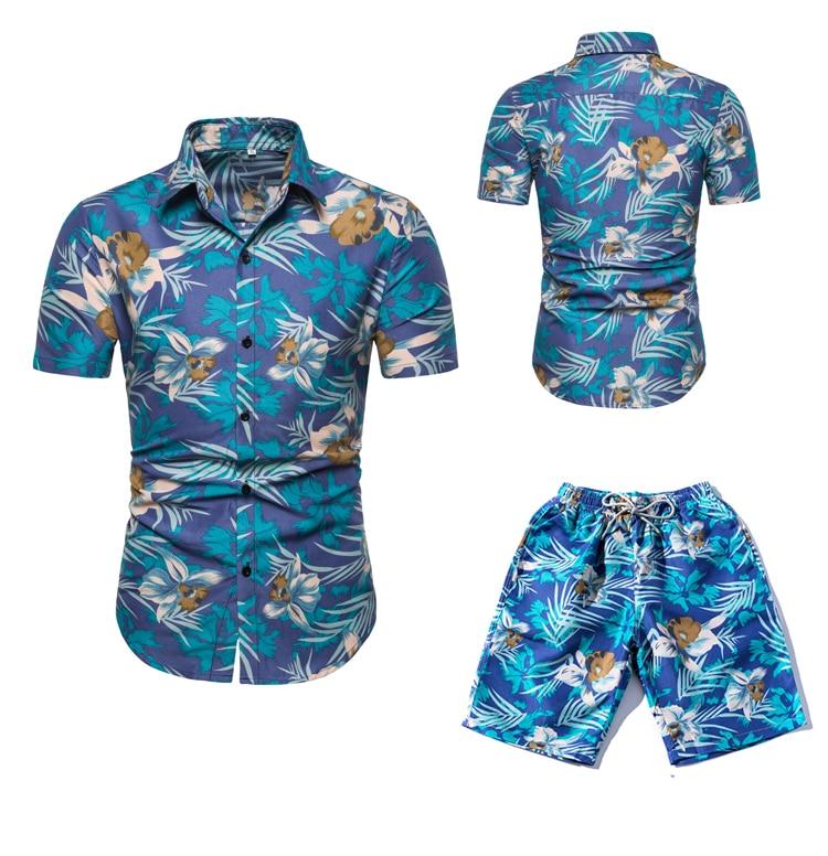 Tracksuit Men New Summer Short Set Men Brand Tshirt Men Two Piece Breathable Casual Beach 2019 Suit Fashion Suit Men