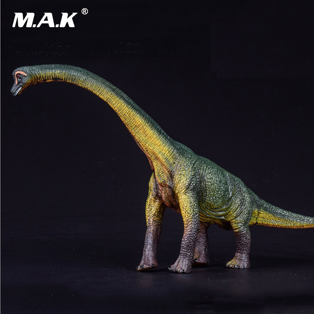 18CM Big Brachiosaurus Cub Dinosaur Models Toys Action Figure Animal Model Collections Brinquedos Toys for Boys 37 cm tyrannosaurus rex with platform dinosaur mouth can open and close classic toys for boys animal model without retail box