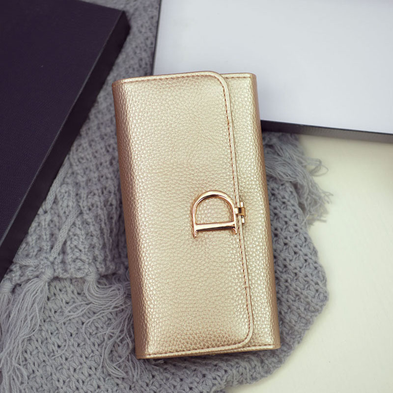2017 Fashion High Capacity Hasp Women Wallets Golden Lady Long Day Clutch Wallet High Quality Purse For Women st366-9 2016 new brand short women s wallet high quality guarantee designer s high heeled shoes hasp purse for lady free shipping
