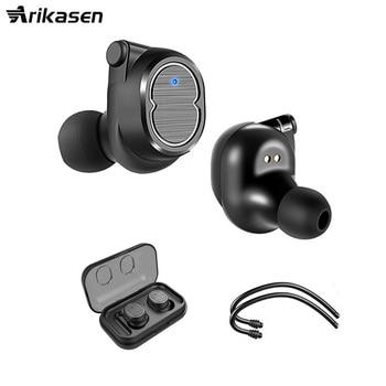 Arikasen TWS True Wireless Earbud Earphones touch button Mini Twins Headset Bluetooth Earphone 5.0 Wireless earphone PK i10 Tws