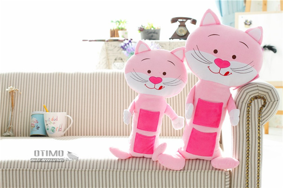 Shopping Cute Cartoon Hello Kitty Car Seat Belt Shoulder Padding Pink Cat Car Seat Belt Covers for Children Safety Protect Toys 3