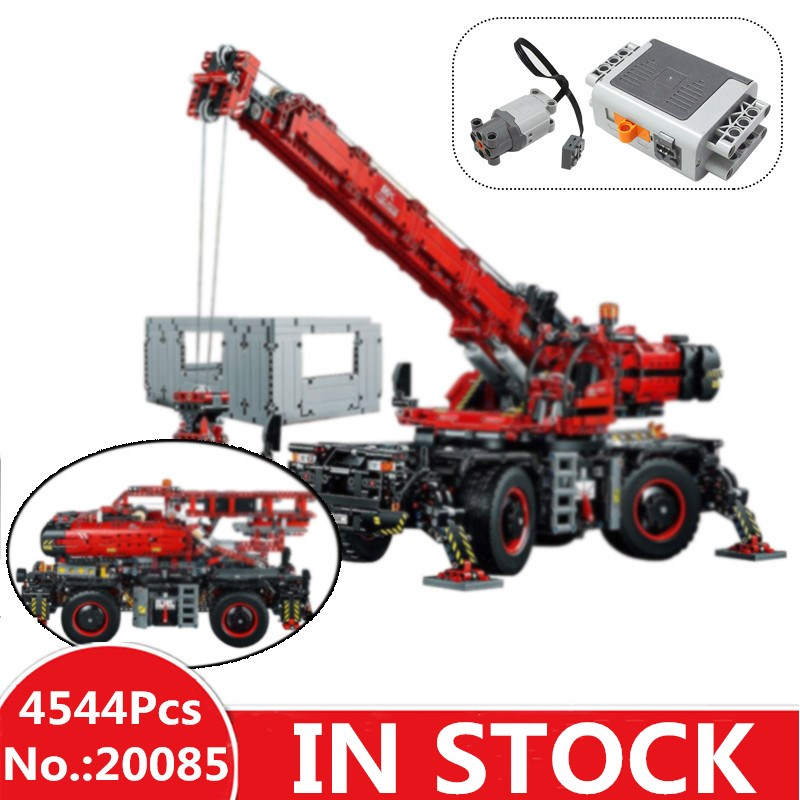 IN STOCK H&HXY 20085 Technic 42082 Rough Terrain Crane Set Lepin Model Building Blocks Self-Locking Bricks Kits Boy's Toys Gifts lepin technic 20085 legoingly 42082 rough terrain crane model set building blocks bricks educational toys for children christmas