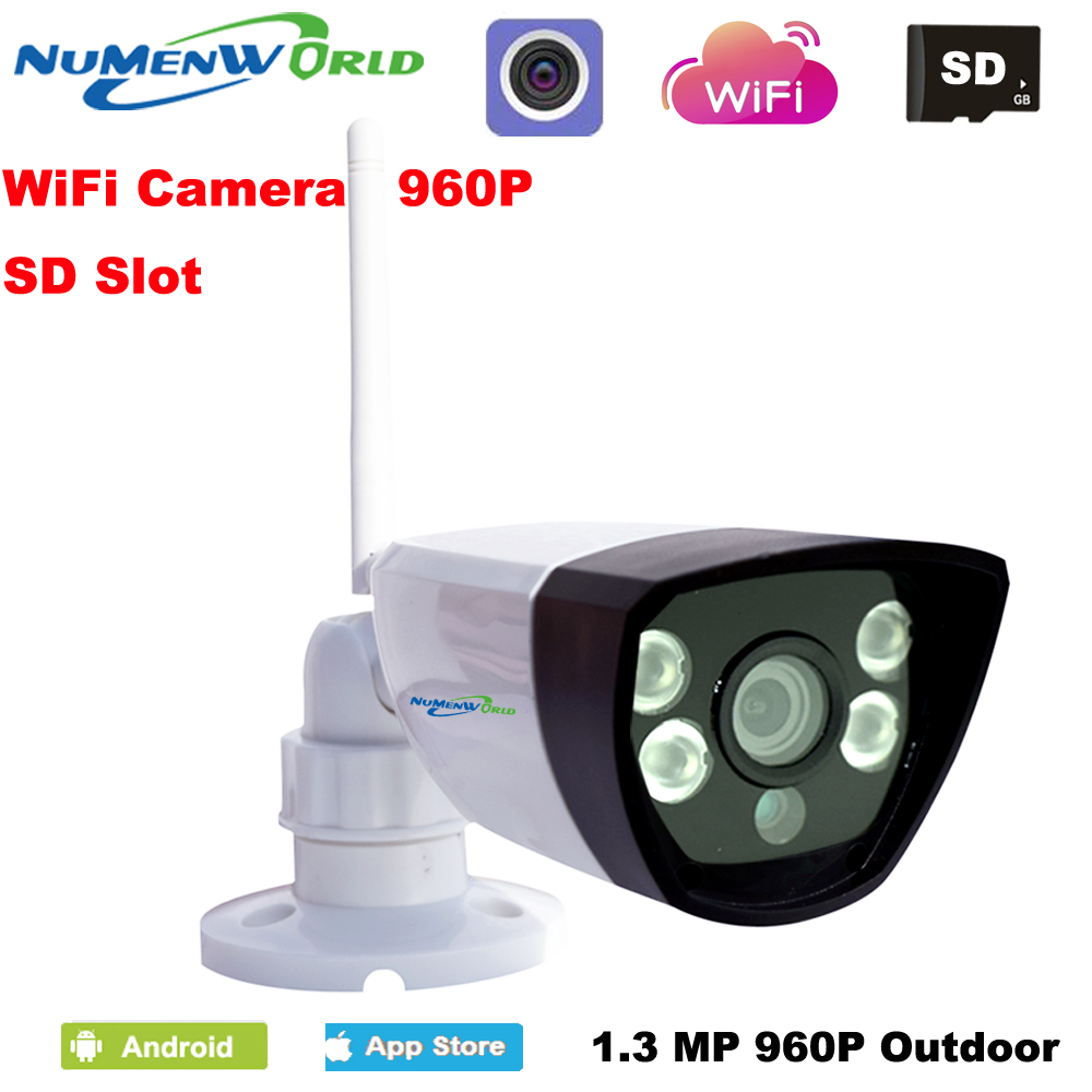 Hot HD Wireless 1.3MP 960P IP Camera Network Onvif Outdoor Security Waterproof Night Vision CCTV security surveillance system wistino 1080p 960p wifi bullet ip camera yoosee outdoor street waterproof cctv wireless network surverillance support onvif
