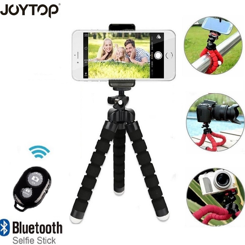 JOYTOP Flexible Tripod for Phone With Remote Control Phone Clip Mini Tripod For iPhone smartphone Camera Tripods & Monopods