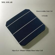 10pcs Photovoltaic Monocrystalline Solar Cell 156mm*156mm 4.7W High Efficiency Grade A 6×6 Solar Panel Cells DIY Solar Module