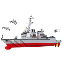 B0390 615pcs Models building toy ruban Building Bloks compatible with lego The carrier battle group destroyers toys hobbies
