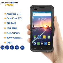 IssyzonePOS PDA Android 7.1 Rugged data collector POS Terminal Handheld PDA Zebra barcode Scanner 2D NFC 4G WiFi Bar code Reader caribe rugged pda android barcode scanner wireless ip65 waterproof with nfc reader