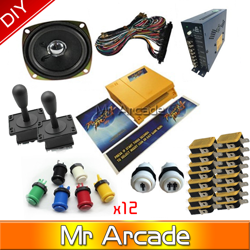 Jamma Arcade game kits with pandora box 4/645in1 game ,Arcade joystick ,Arcade Buttons to DIY arcade game machine or Controller jamma arcade game kits with pandora box 4 645in1 game power supply arcade joystick arcade buttons speaker for arcade game