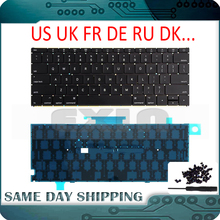 NEW A1534 Keyboard US UK English w Backlit French German Russian Danish Italian for MacBook Retina