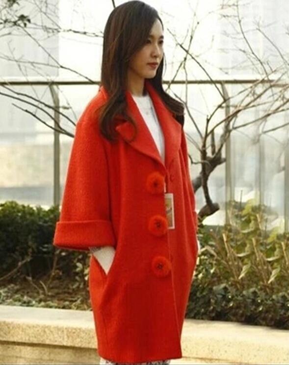 Winter Fashion New Abrigos Women Fall Mujer Orange 2018 Uk nSWTRA0Tt