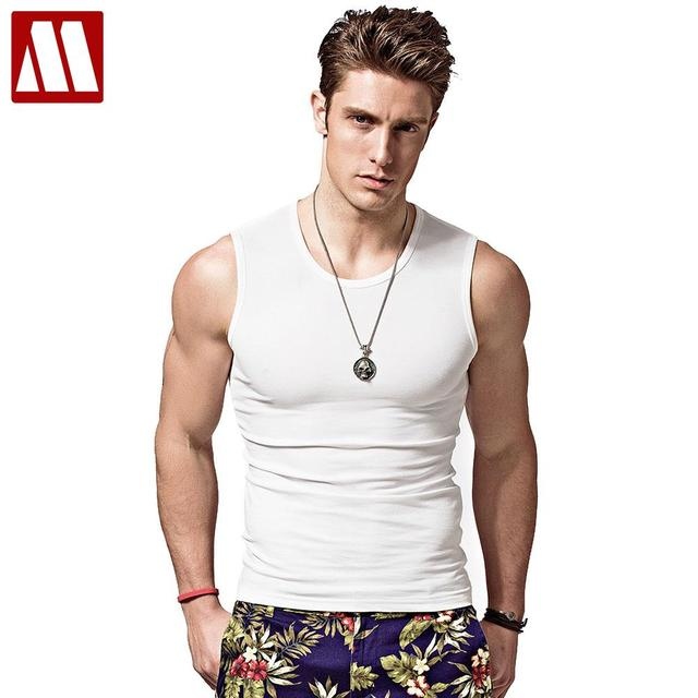 Men's bodybuilding tank tops for Muscular, sleeveless singlet and  undershirt in summer big muscle T