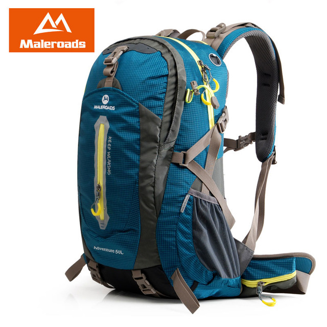 Maleroads 50L 40L Waterproof Travel Backpack Camp Hike Mochilas Masculina Mountaineering Climb Bagpack Laptop Back Bags For Men large 75l feel pioneer professional waterproof cr travel backpack camp hike mochilas climb bagpack laptop bag pack for men women