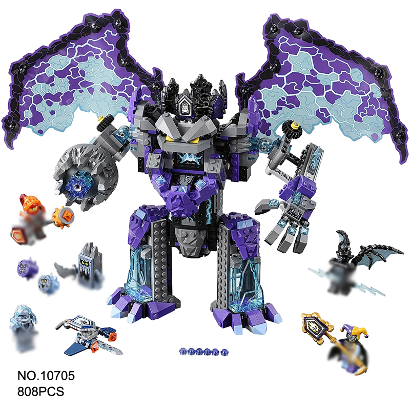 808Pcs Nexo Knights Ultimate Destructi Model Building Block Toys BELA 10705 Education Figure Gift For Children Compatible lepin new lepin 16008 cinderella princess castle city model building block kid educational toys for children gift compatible 71040