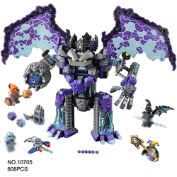 808Pcs Nexo Knights Ultimate Destructi Model Building Block Toys BELA 10705 Education Figure Gift For Children Compatible leping