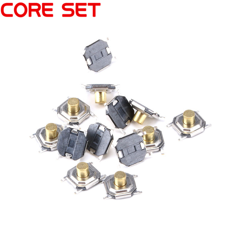 50 pcs/Lot 4X4X3MM Tactile Tact Push Button Micro Switch Momentary 4*4*3MM SMD Button Switch 50pcs lot 6x6x4 3mm 4pin smt g88 tactile tact push button micro switch self reset dip top copper free shipping
