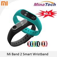 2016 New 100 Original Xiaomi Mi Band 2 Miband Wistband Bracelet With Smart Heart Rate Fitness