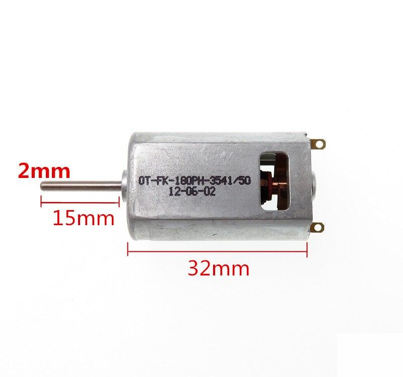 2Pcs DC 7.2V 20000RPM 2mm Dia Shaft Micro Motor for Model Airplane