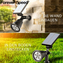 2PCS LED Solar lamp With Solar Panel Waterproof Outdoor Solar Powered LED Path Lawn Yard Garden Lamps Lighting dropshiping