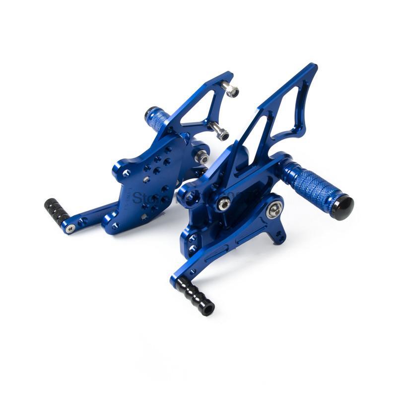 Adjustable CNC Motorbike Rearset Rear set Foot Rest Pegs for Yamaha YZF-R25/R3 2014 2015 2016 Blue adjustable pedals cnc motorcycle rear foot rest pegs for yamaha yzf r25 yzf r3 2014 2015 2016 yzf r3 r25 gold