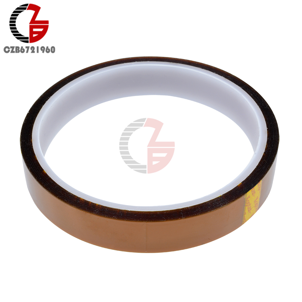 5/6/8/10/12/15/20/25/30/40/50mm x 30M 100ft Gummed Adhesive Tape High Temperature Heat Resistant Polyimide high temperature heat resistant polyimide adhesive tape 65mm x 30m 260 300 degree new for electronics industry