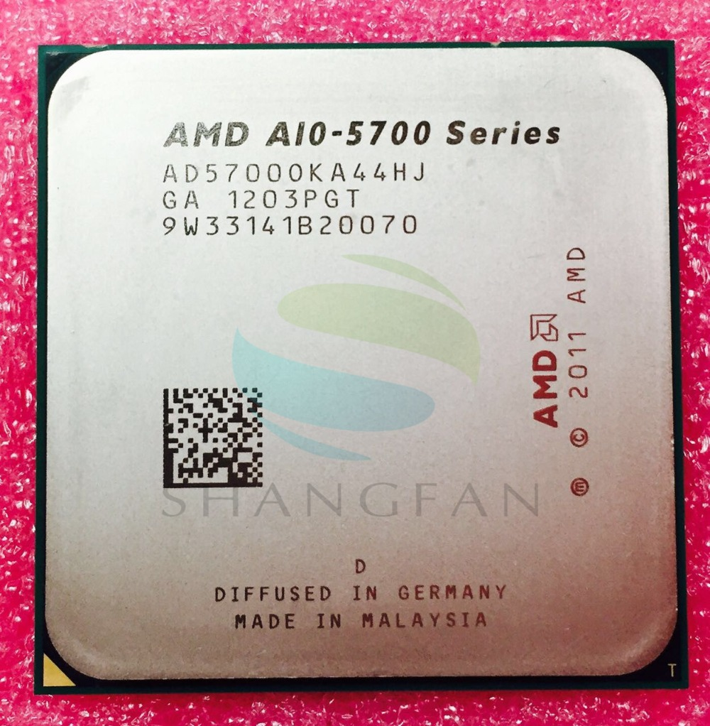 AMD A10 Series A10-5700 A10 5700 A10 5700K A10-5700K 3.4Ghz 65W Quad-Core CPU Processor AD5700OKA44H  Socket FM2