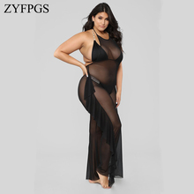 ZYFPGS 2019 Women Bodysuit Lace long Elasticity Solid Sexy Fat Womens Jumpsuit Fashion Fitness Tassel Decoration Plus Size Z1209