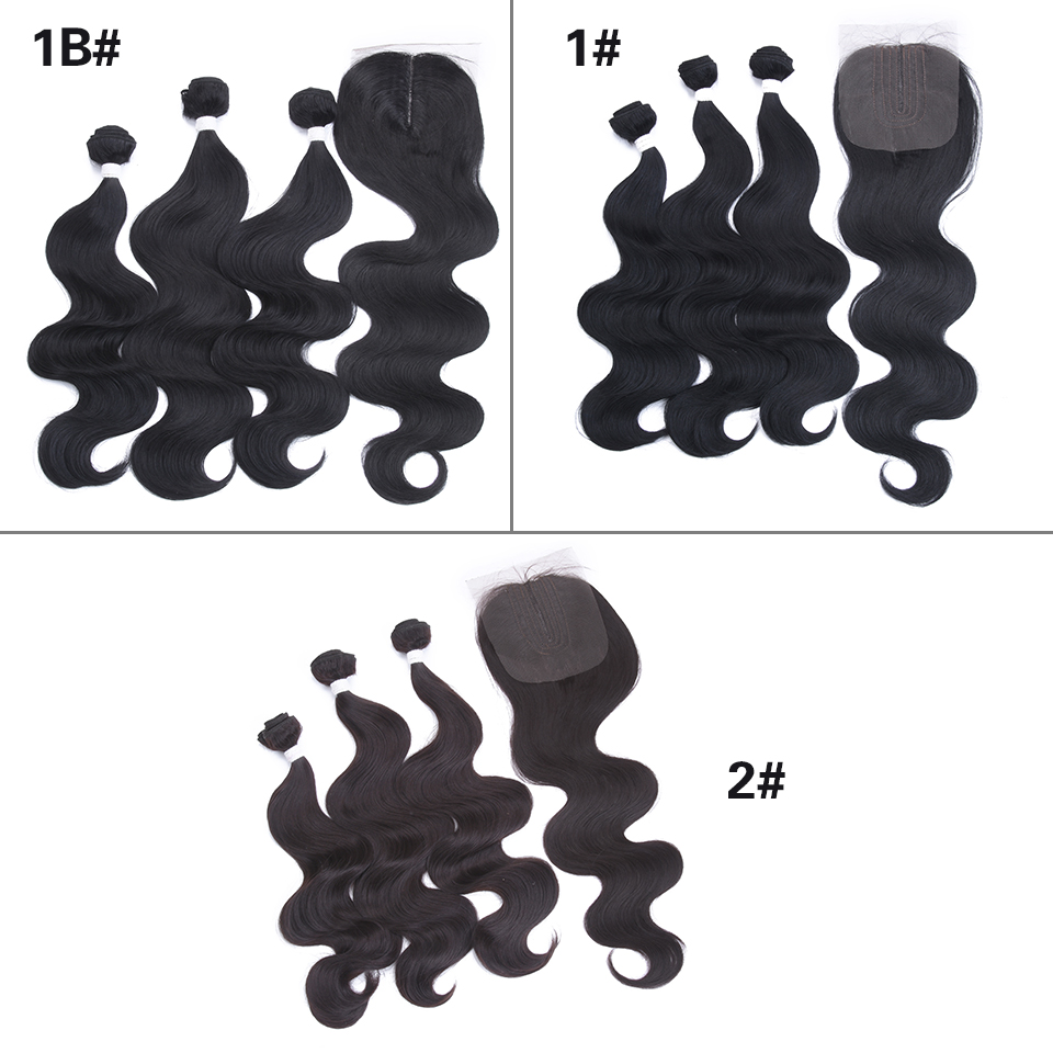 Image 5 - Miss Rola Body Wave Bundles With Lace Closure Synthetic Hair Extension With Closure 16 20 Inches 3 Bundles With Closure-in Synthetic Weave from Hair Extensions & Wigs