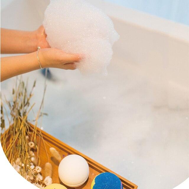 1pcs Spa clean Lavender Bath Salt Ball Body Skin Whitening Ease Relax Stress Oil Bath Ball Natural Bubble Bathing Bombs Balls 5