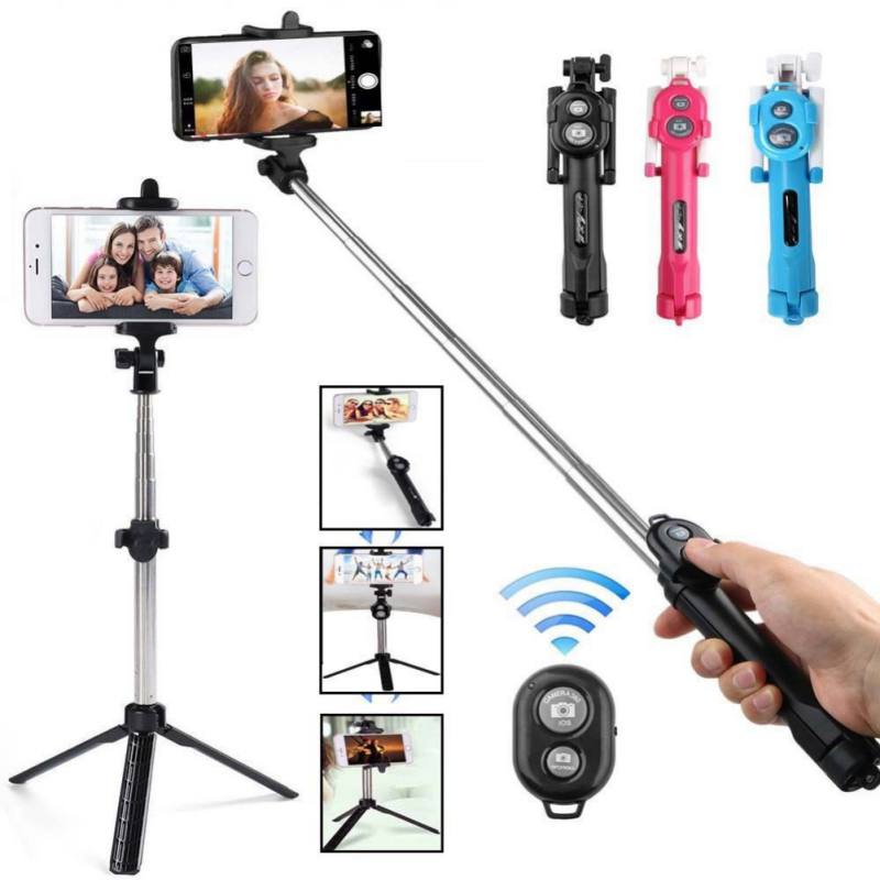 3 In 1 Mobile Phone Bluetooth Selfie Stick Tripod Monopod With Camera Button For IPhone Samsung Huawei Xiaomi Phones