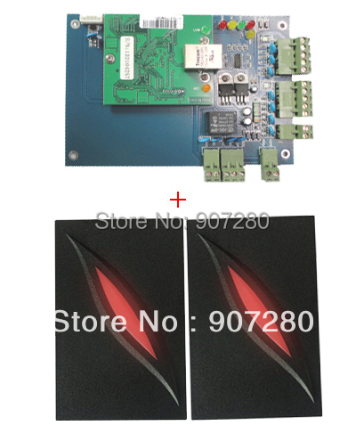 TCP/IP & Web Management Support One Door Access Controller Panle + 2pcs 125Khz Wiegand RFID Card Reader biometric fingerprint access controller tcp ip fingerprint door access control reader