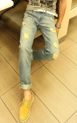 2017 summer men jeans new men's jeans Korean Slim young men straight denim jeans casual long pants men jeans casual