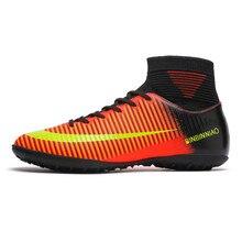 цены на studieux WAO TF Football Soccer Shoes Men High Ankle Soccer Cleats children Turf Superfly Futbol AG Boy Sneakers Women Size35-45  в интернет-магазинах