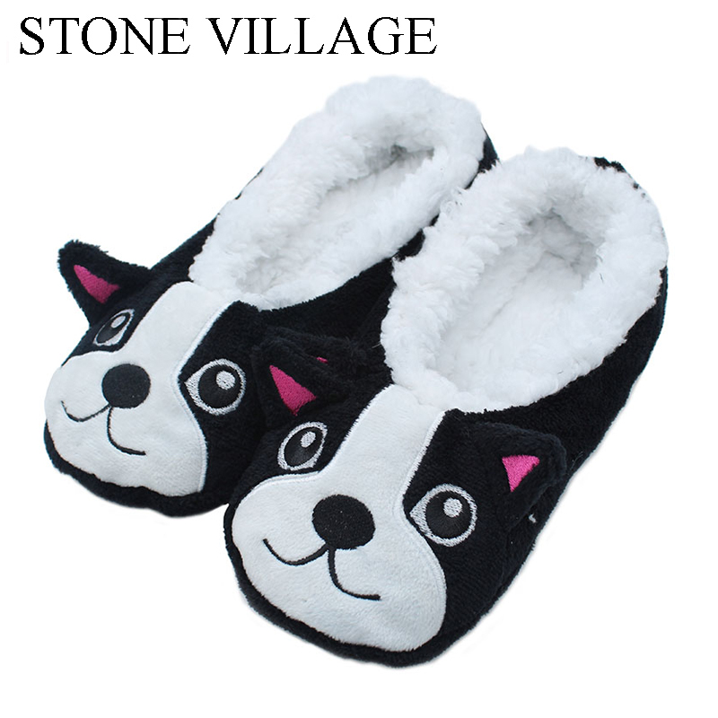 New Arrival Home Slippers Cartoon puppy Warm Soft Wool Indoor Slippers Comfortable Women'S Shoes With Soft Soles Women Slippers new women slippers non slip home room slippers elastic cloth printed grid transparent women comfortable thick soles women shoes