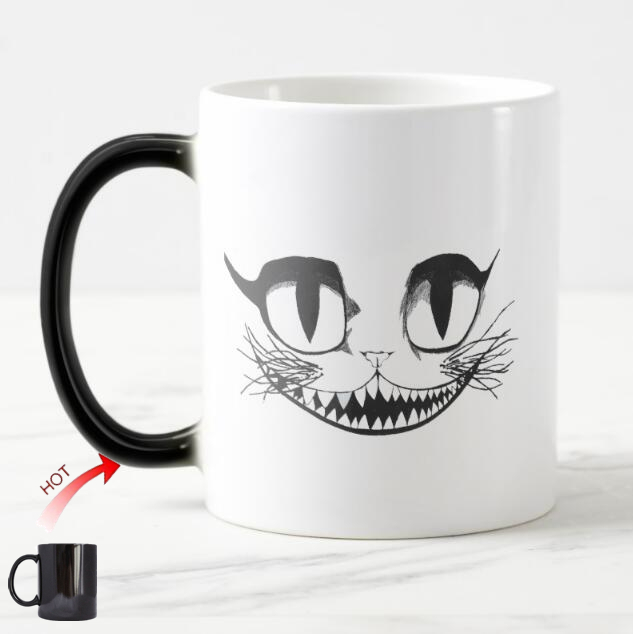 Novelty Alice in Wonderland Mug Cheshire Cat Coffe Magic Mugs Heat ...