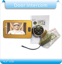 Video Doorbell System Door Intercom Phone 4.3 Inch Weatherproof Night Vision Outdoor Camera And Indoor Monitor Unit