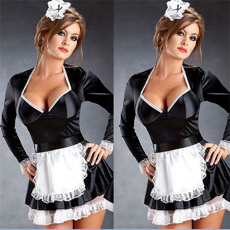 Plus Size M-4XL High Quality Sexy Adult Woman Late Night French Maid Servant Costume French Maid Costume 2019 New