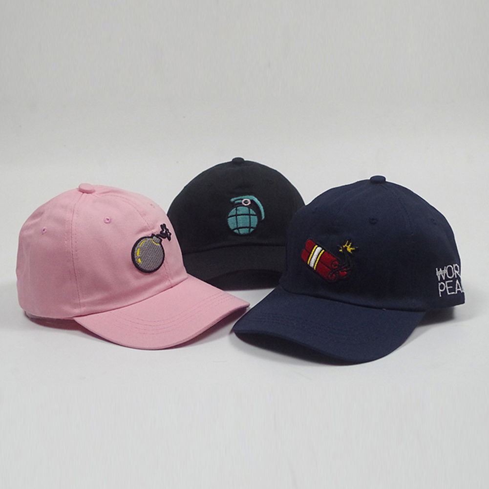 898181e07d4 Fashion Men Women Baseball Cap Peaked Hat HipHop Curved Snapback Stitchwork Adjustable  Baseball Hat Black pink navy blue