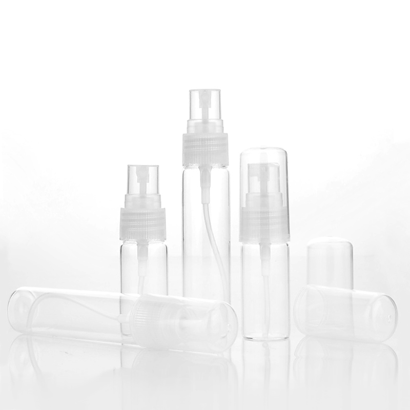 Image 5 - 100Piece/Lot 5ml 10ml Travel Spray Bottle Portable Glass Perfume Bottles Atomizer Contenitori Cosmetic Pump Parfum Women Perfume-in Refillable Bottles from Beauty & Health