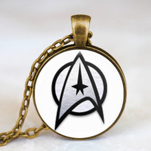 Steampunk movie Star Trek Pendant Science Medical or Operations hero Necklace doctor who 1pcs/lot women mens vintage chain charm