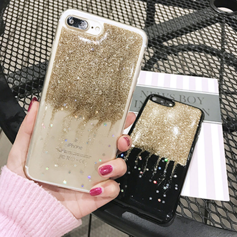 Luxury Shining Glitter Star Phone Case For iPhone 7 6 6s Plus Fashion Ultrathin Soft TPU Back Cover Cases For iPhone7 7 Plus