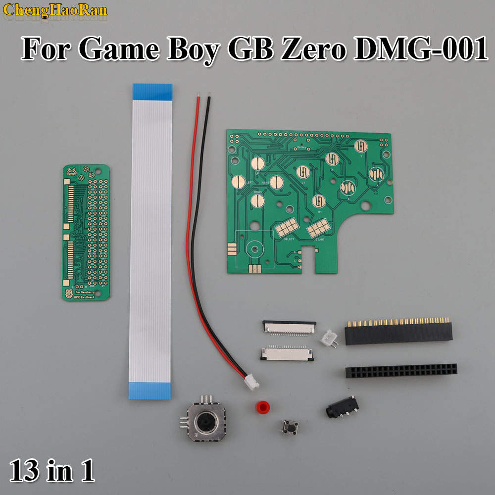 Full Set 6 Buttons PCB Board Switch FPC Ribbon Cable Dupont Line Wire Connector Kit Raspberry Pi GBZ For GameBoy GB Zero DMG-001