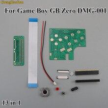 Pełny zestaw 6 przycisków płytka drukowana przełącznik FPC kabel taśmowy Dupont giętki przewód zestaw łączników Raspberry Pi GBZ dla GameBoy GB Zero DMG 001
