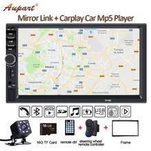 2 Din мультимедийный плеер Дин радио с камеры заднего вида генеральный 7 »Авторадио с сенсорным экраном автомобиля MP5 Новый 7018B Carplay и Mirrorlink