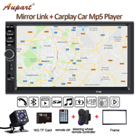 2 Din Multimedia Player DIN car radio with rear camera General 7'' Touch Screen Autoradio Car MP5 New 7018B Carplay & Mirrorlink