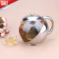 アート茶カップ*マグ&茶ポット500ミリリットルエレガントカップティーポットガラスステンレス鋼視点ティーポットティーポッ