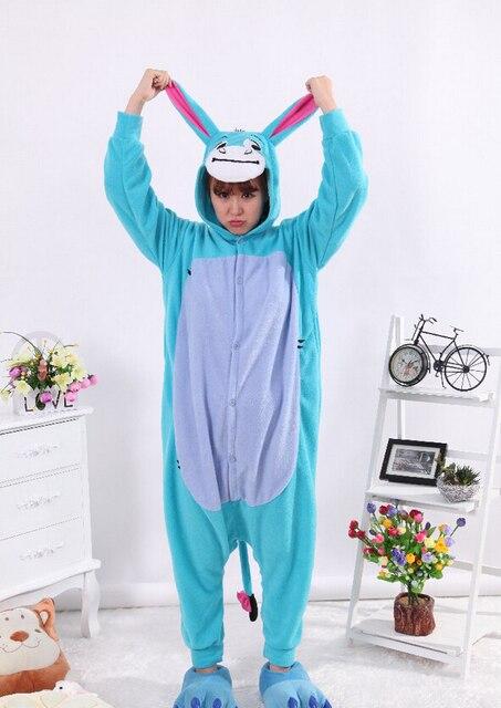a9aed2ace0 Blue Donkey Onesies Pajamas Unisex Adult Pajamas Cosplay Costume Animal Onesie  Sleepwear Jumpsuit