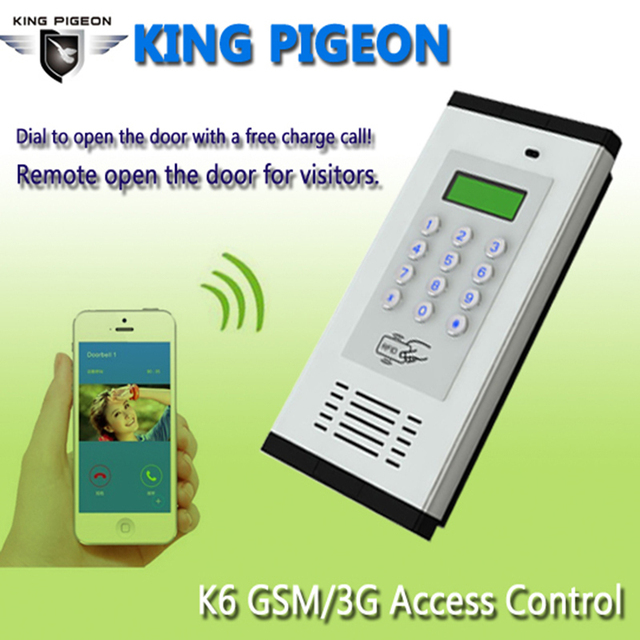 GSM Access Control Door Alarm System 850/900/1800/1900MHz LCD Screen 1000 Authorized Number Door Opener RFID Card SMS Text K6